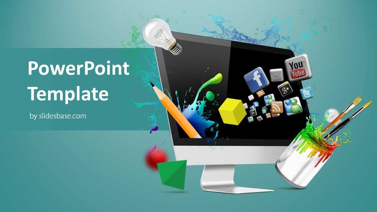 Creative Web Design Powerpoint Template With Regard To Multimedia Powerpoint Templates
