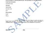 Credit Card Authorisation Form – Free Template | Sample within Credit Card Authorisation Form Template Australia