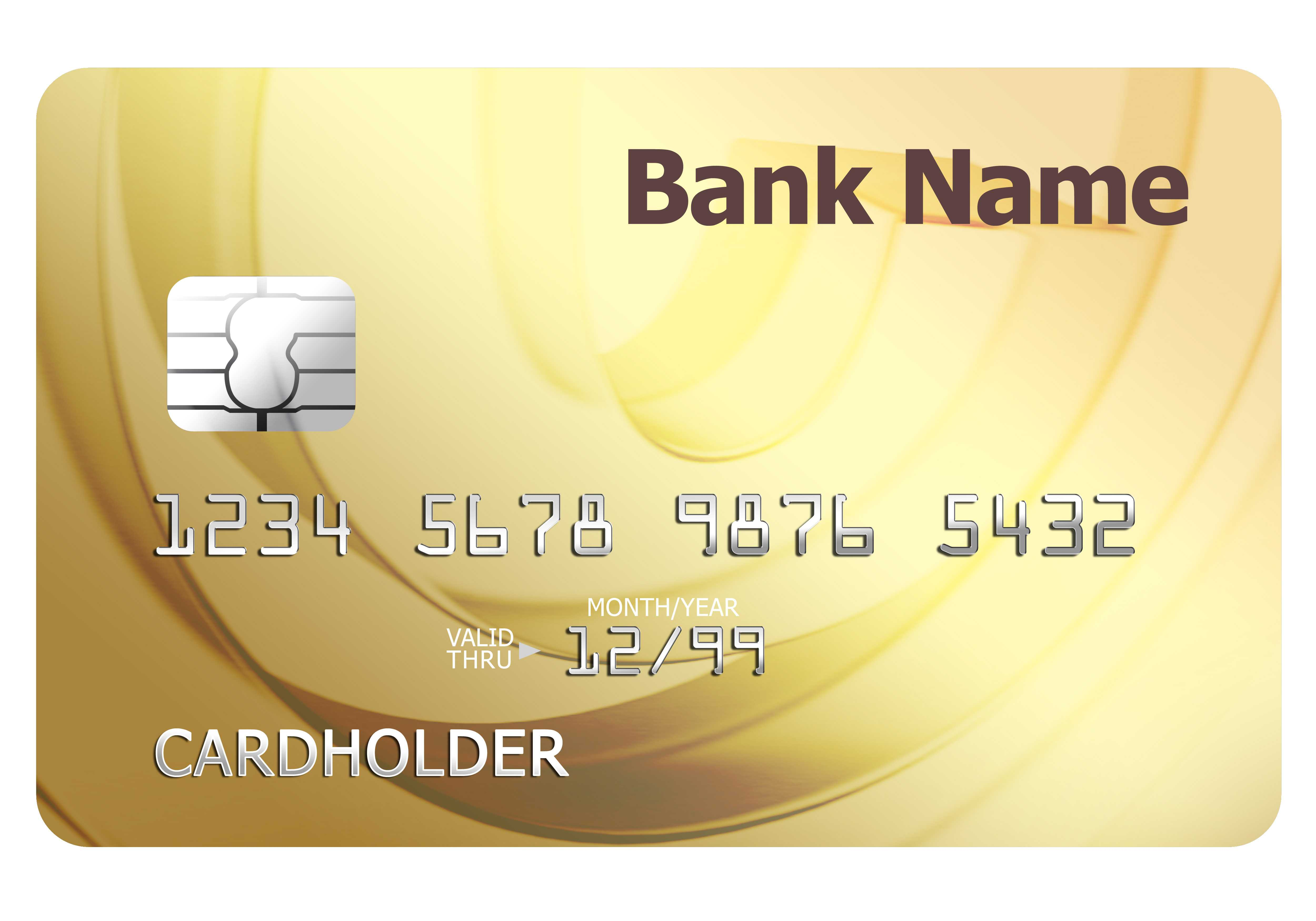 Credit Card Template | Psdgraphics Pertaining To Credit Card Size Template For Word
