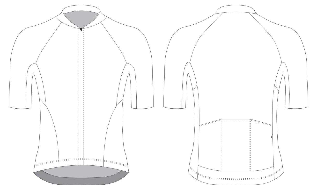 Custom Blank Cycling Jersey Design Template - Cyclingbox With Blank Cycling Jersey Template