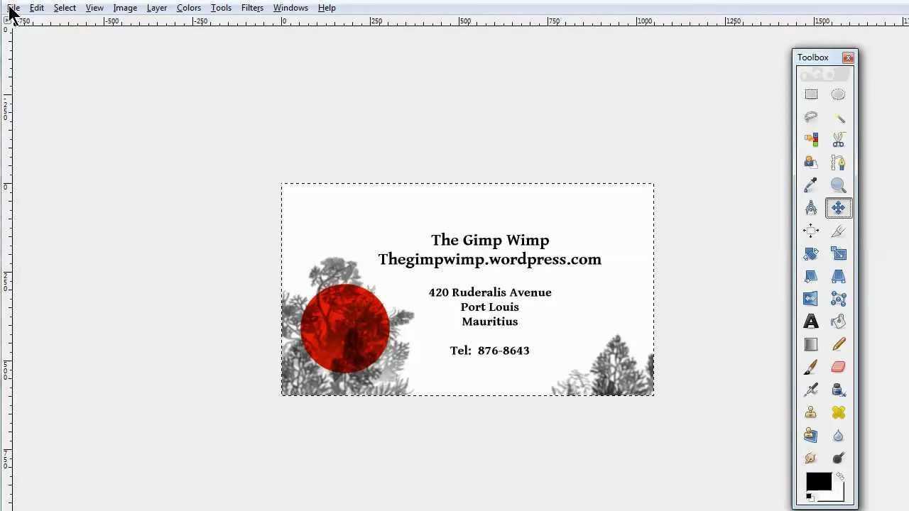 Custom Business Card In Gimp 2.8The Gimpwimp Inside Gimp Business Card Template