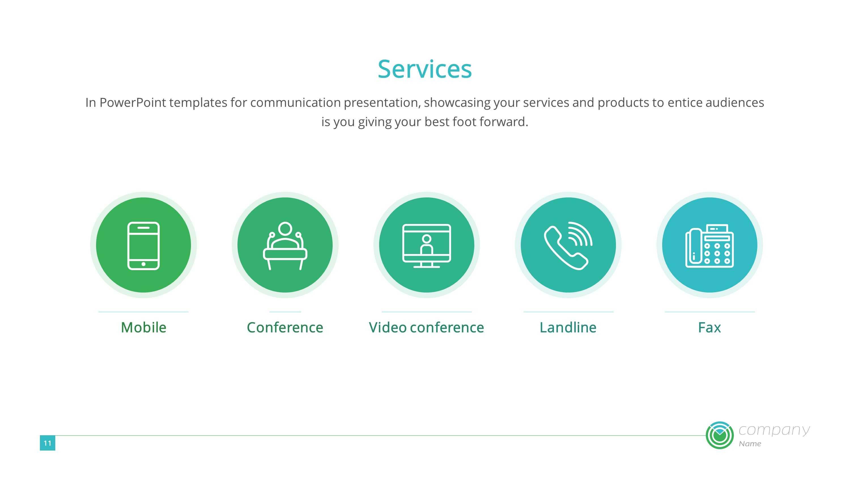 Digital Communication Premium Powerpoint Template – Slidestore Throughout Powerpoint Templates For Communication Presentation