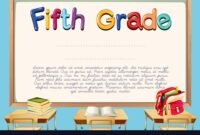 Diploma Template For Fifth Grade Students For 5Th Grade Graduation Certificate Template