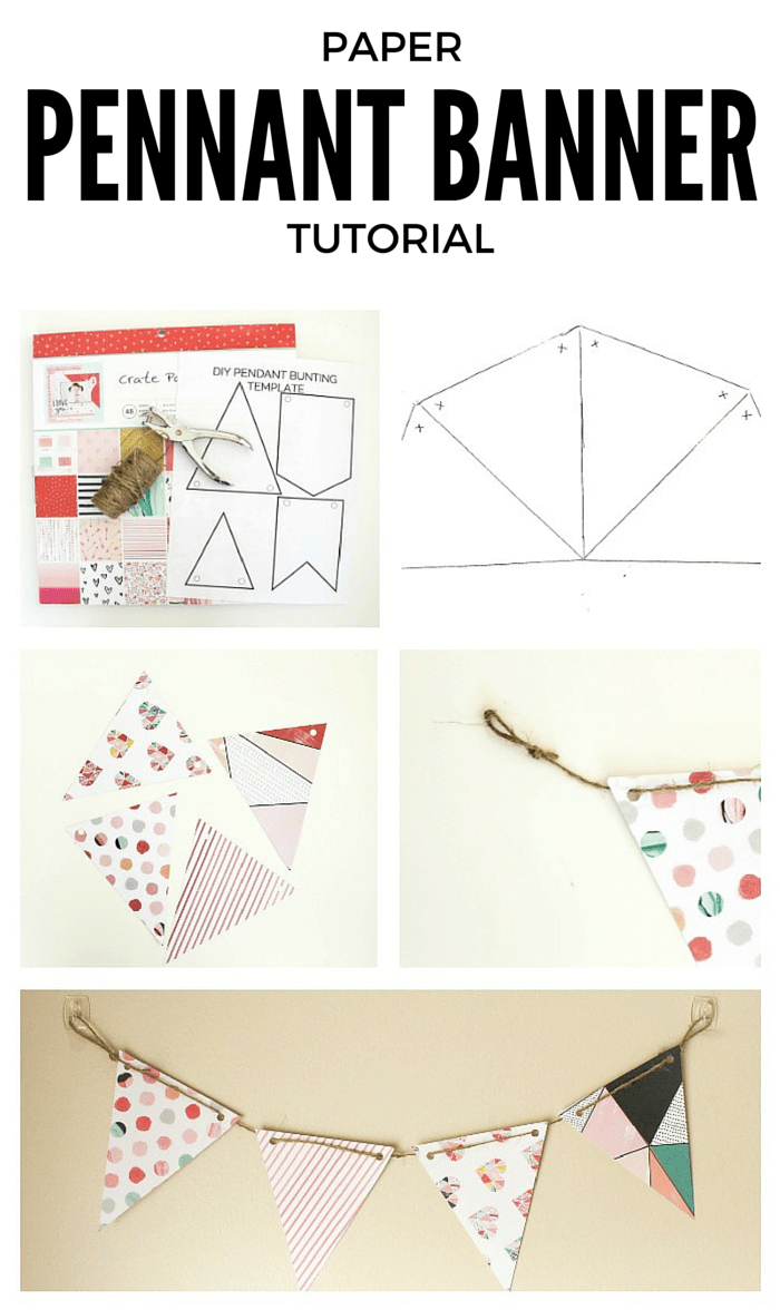 Diy Paper Pennant Banner (W/ Free Template) - Mommy Suite Pertaining To Homemade Banner Template