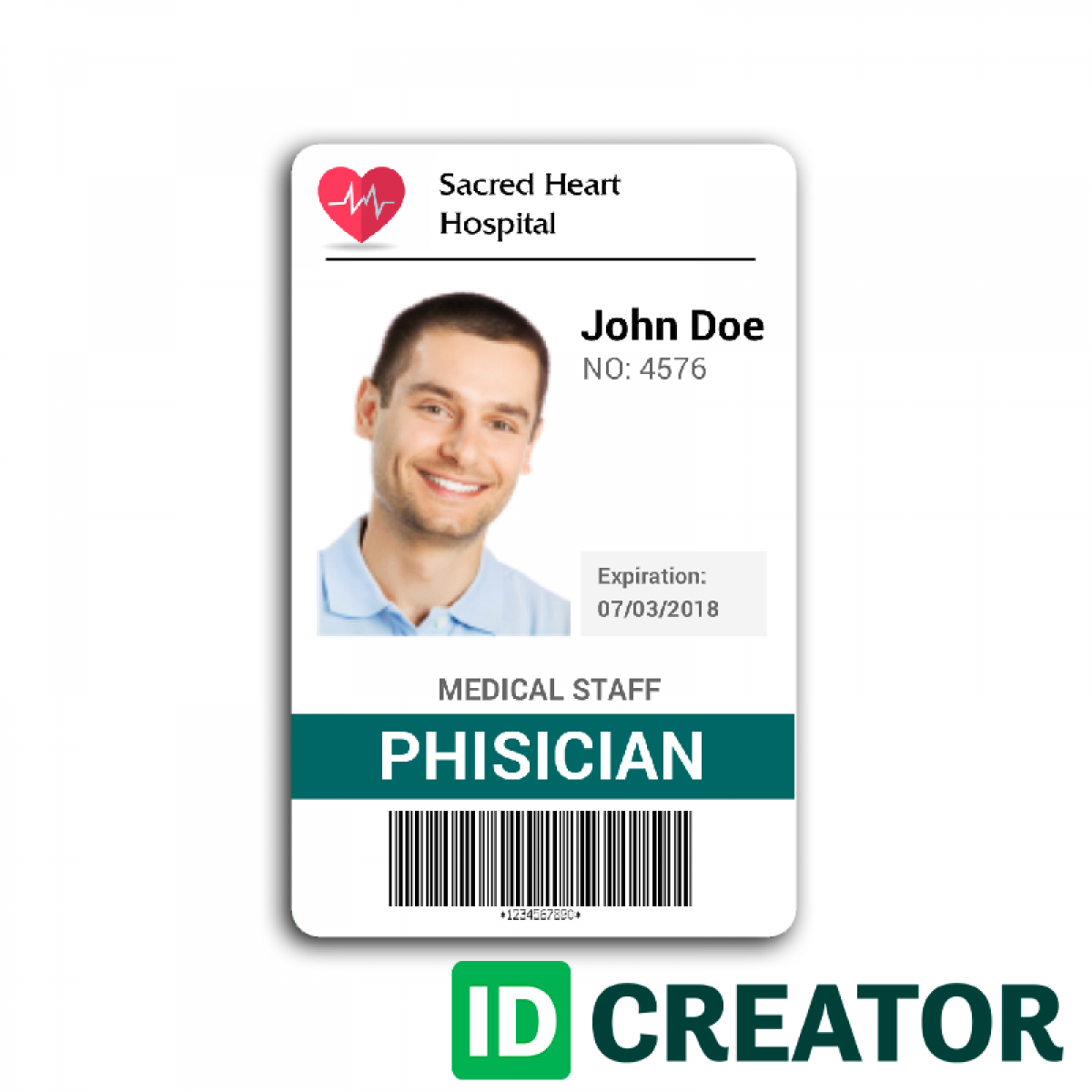 Doctor Id Card #2 | Wit Research | Id Card Template With Regard To Hospital Id Card Template