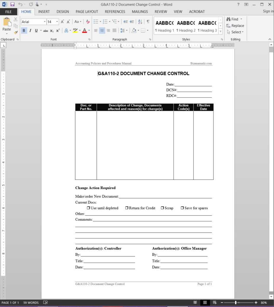 Document Change Control Report Template   G&a110 2 Regarding After Training Report Template
