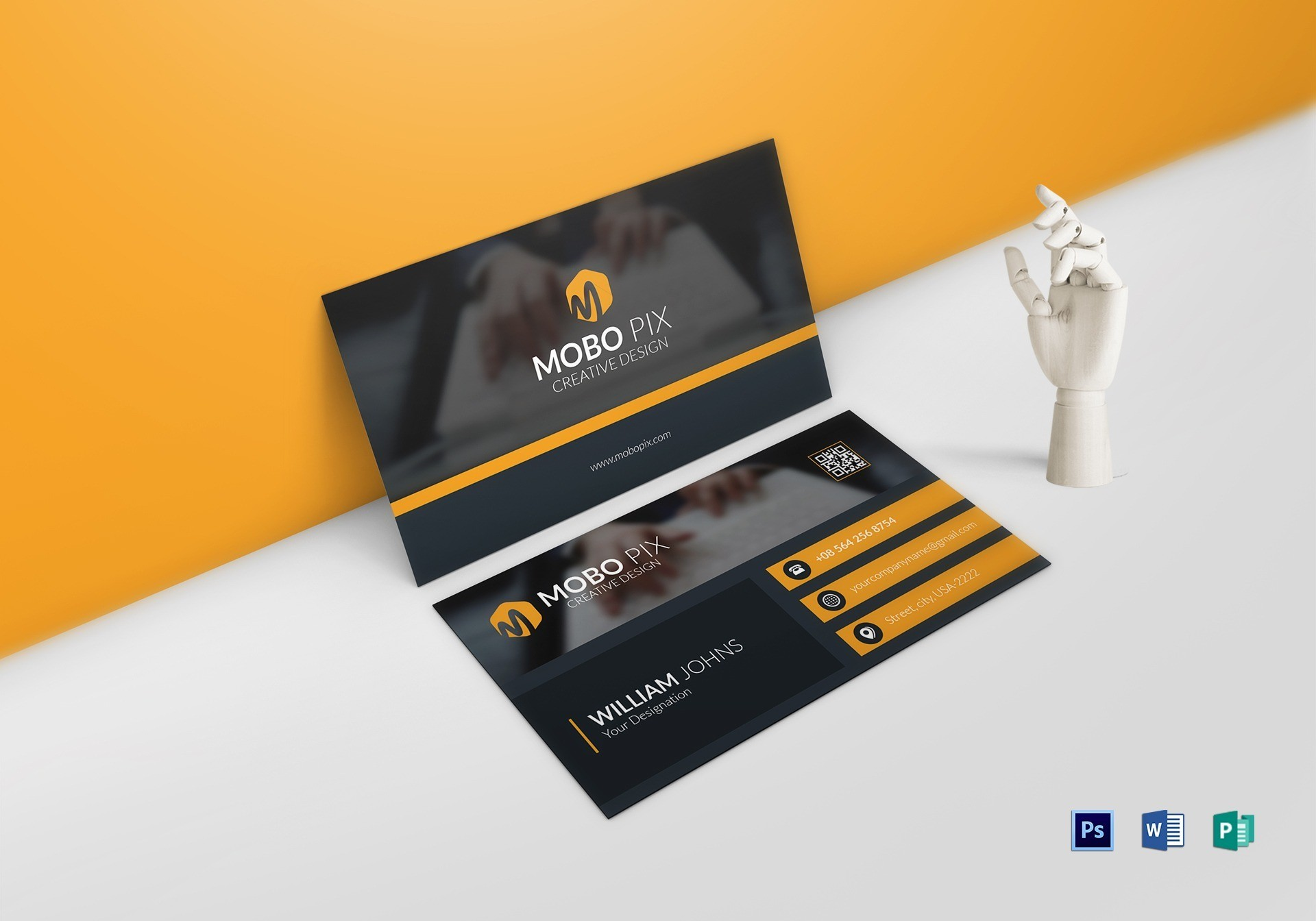Double Sided Business Card Template regarding 2 Sided Business Card Template Word