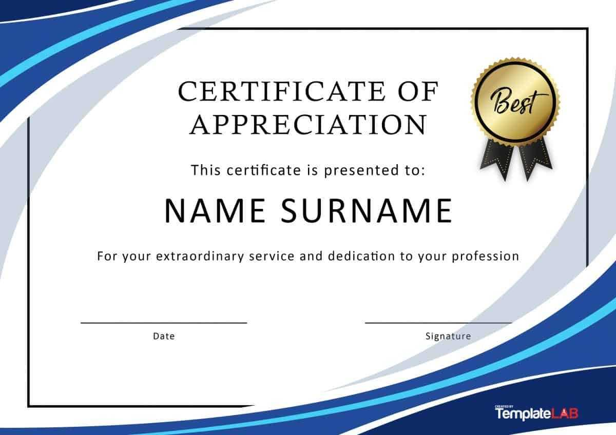 Download Certificate Of Appreciation For Employees 03 With Certificates Of Appreciation Template
