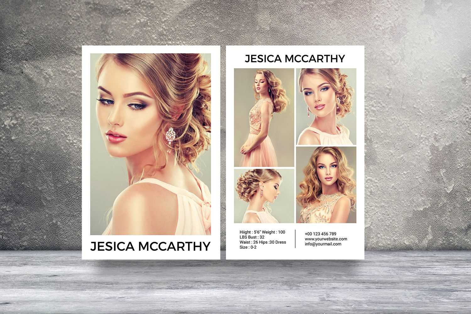 Download Comp Card Template - Atlantaauctionco For Zed Card Template Free