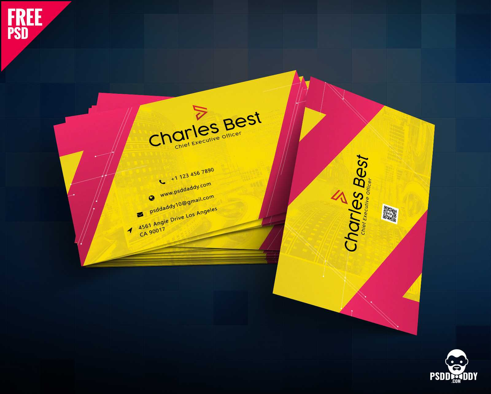 Download] Creative Business Card Free Psd | Psddaddy Inside Psd Visiting Card Templates