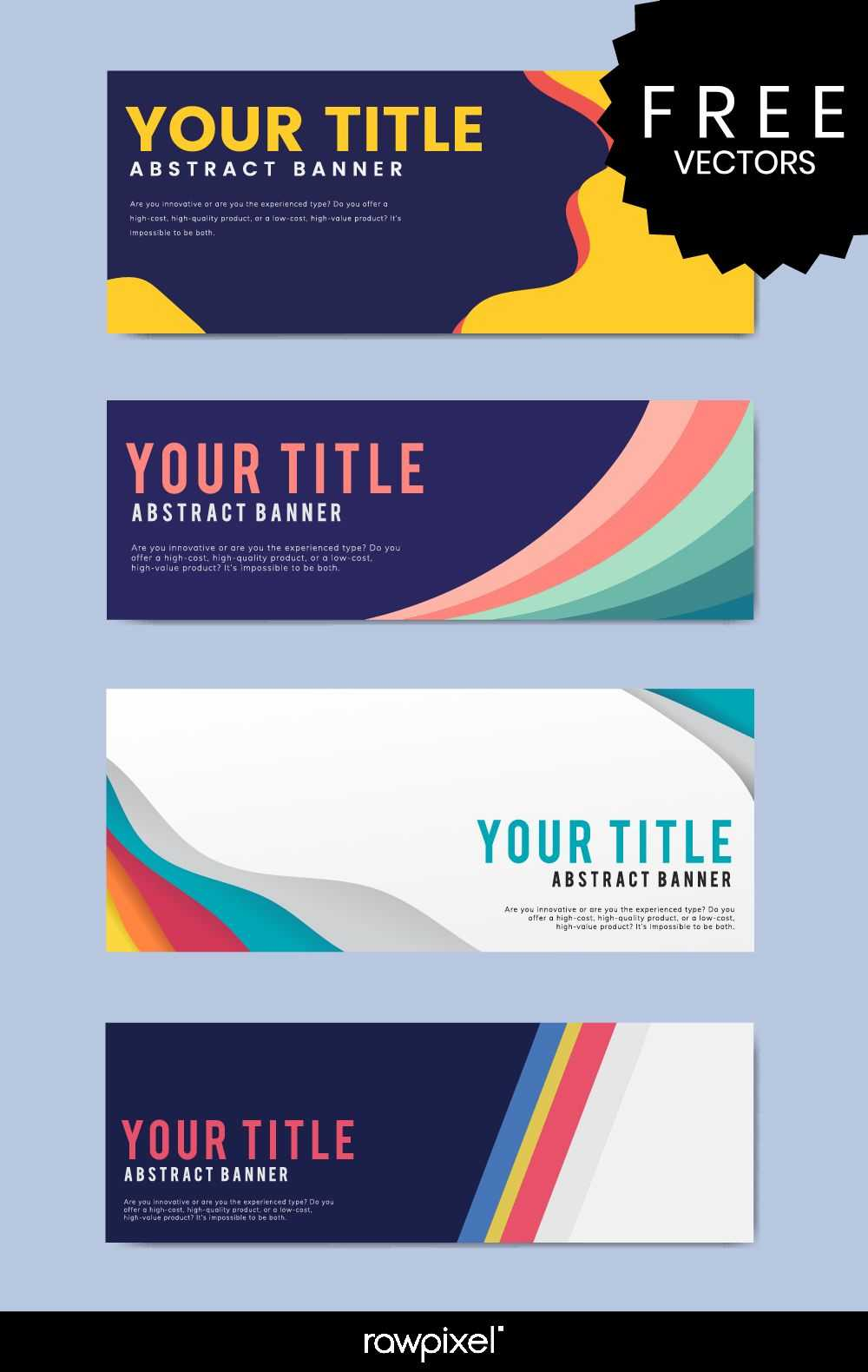 Download Free Modern Business Banner Templates At Rawpixel Inside Free Website Banner Templates Download