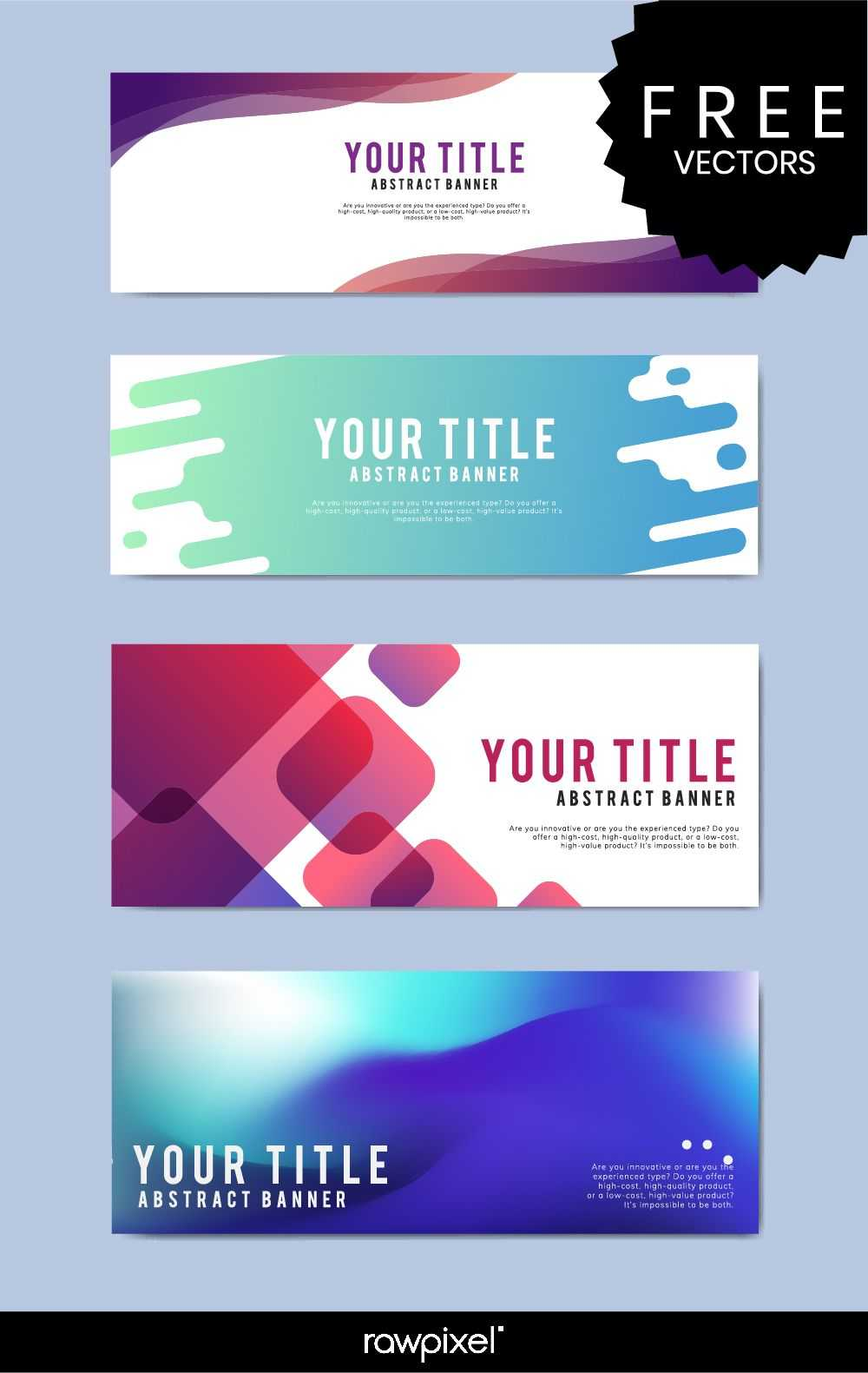Download Free Modern Business Banner Templates At Rawpixel Throughout Website Banner Templates Free Download