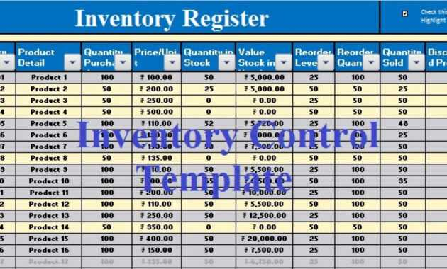 Download Inventory Control Excel Template - Exceldatapro within Stock Report Template Excel
