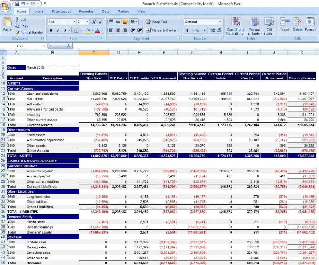 Download Personal Financial Statement Template Excel From Inside Excel Financial Report Templates