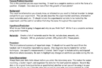 Eastview High School Science Department Lab Report Format within Lab Report Template Word