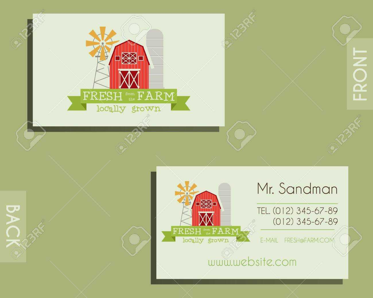 Eco, Organic Visiting Card Template. For Natural Shop, Farm Products.. Throughout Bio Card Template