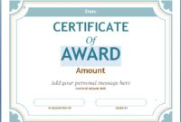 Editable Award Certificate Template In Word #1476 within Academic Award Certificate Template