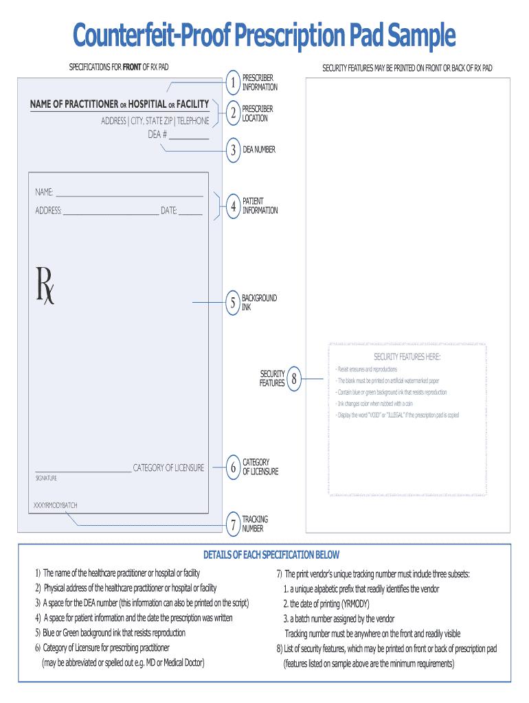 Editable Prescription Template - Fill Online, Printable Inside Blank Prescription Pad Template