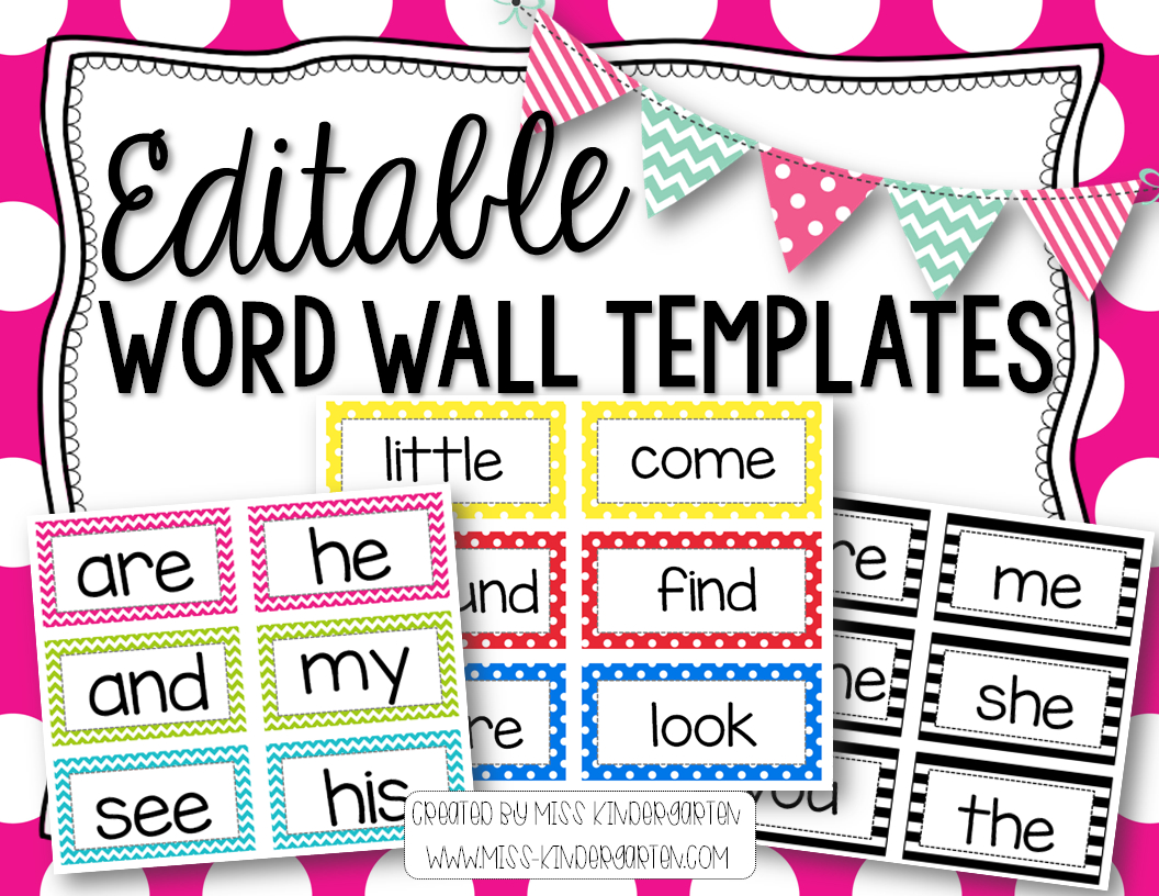 Editable Word Wall Templates | Beginning Of The Year – Prep Pertaining To Blank Word Wall Template Free