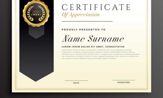 Elegant Diploma Award Certificate Template Design regarding Award Certificate Design Template