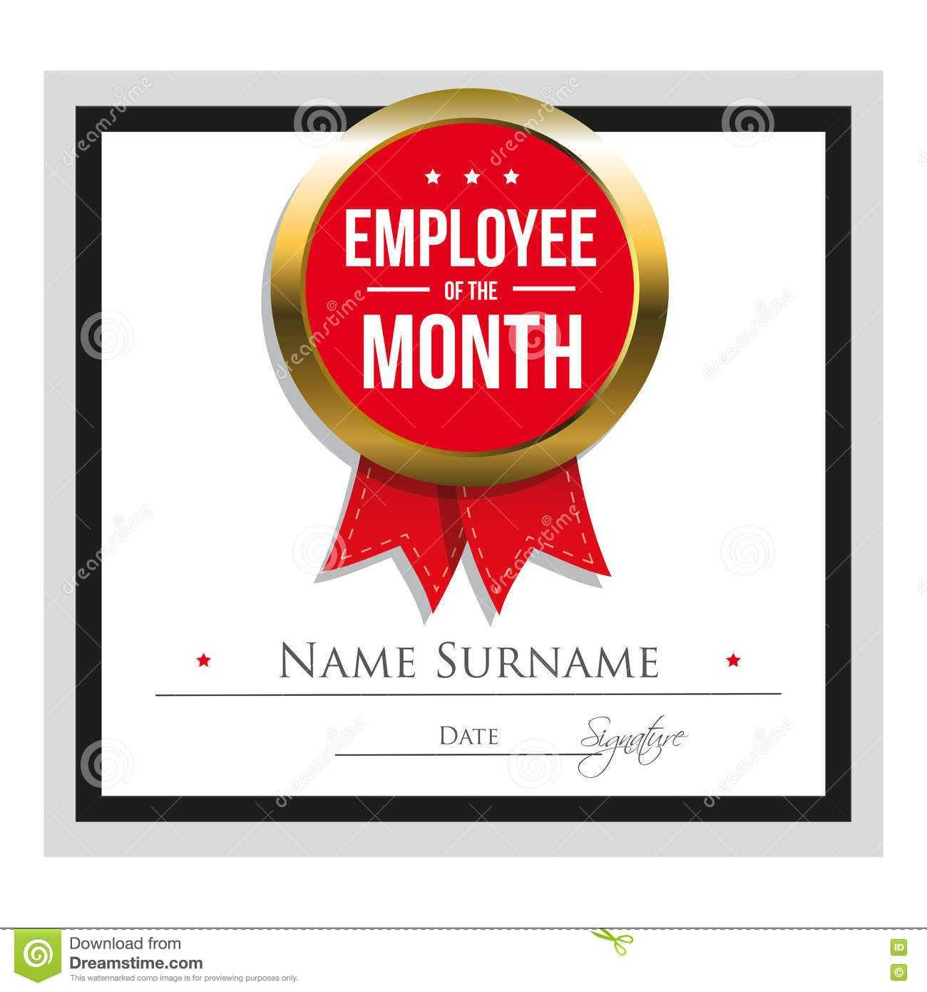 Employee Award Certificate Template Free Templates Design Intended For Manager Of The Month Certificate Template