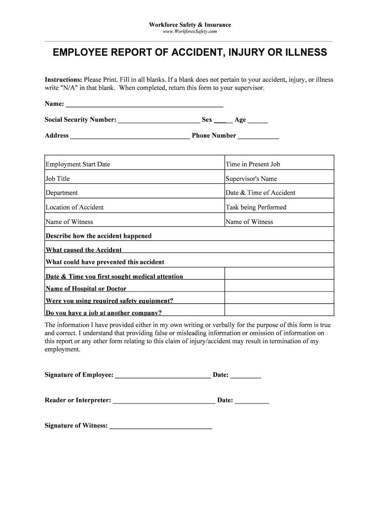 Employee Incident Report Template - Fill Online, Printable Regarding Employee Incident Report Templates