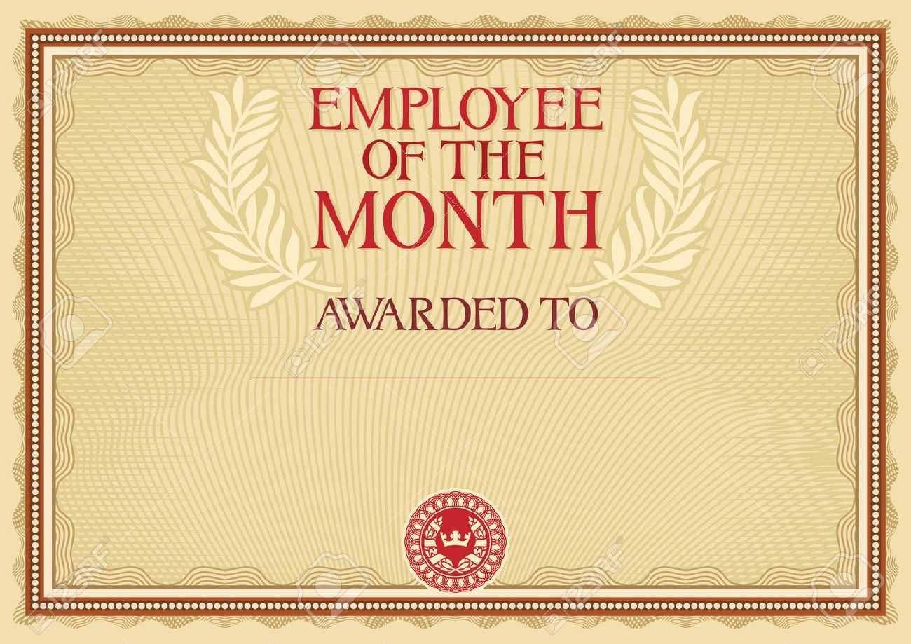 Employee Of The Month - Certificate Template Throughout Manager Of The Month Certificate Template