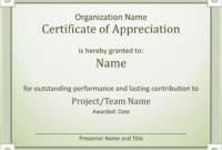 Employee Recognition Award Certificate Template Of pertaining to Best Performance Certificate Template