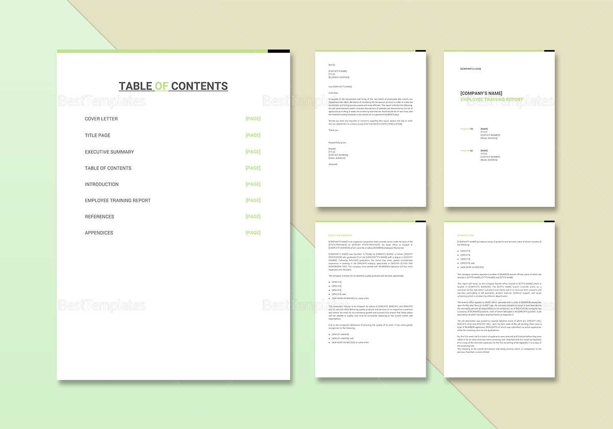 Employee Training Report Template Intended For After Training Report Template