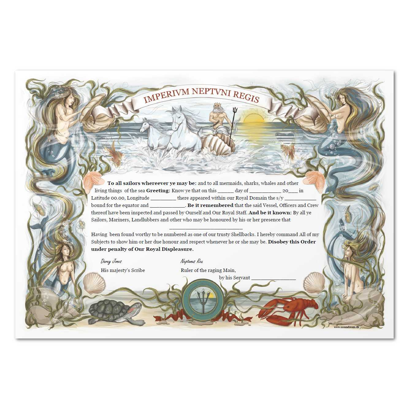 Equator Certificate With Crossing The Line Certificate Template