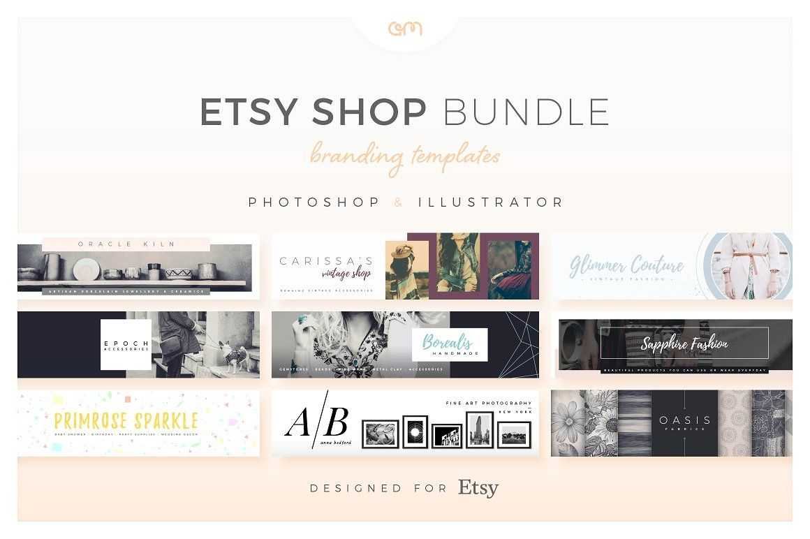 Etsy Shop Bundle - Web Elements - Etsy Banners - Etsy With Regard To Etsy Banner Template