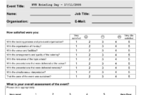 Event Feedback Form Template – Teplates For Every Day regarding Post Event Evaluation Report Template
