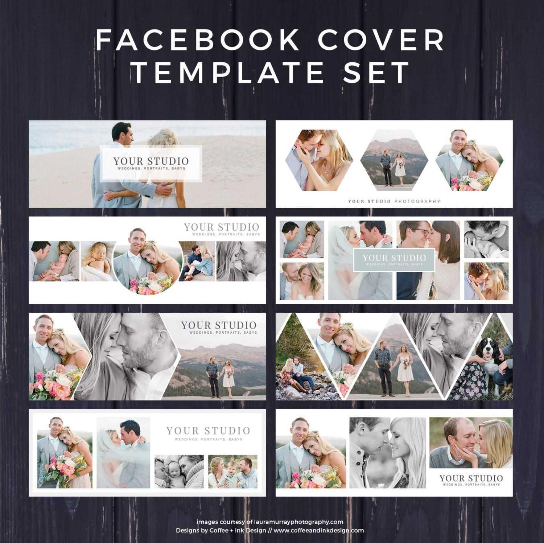 Facebook Template, Photography Marketing, Facebook Timeline Regarding Photoshop Facebook Banner Template