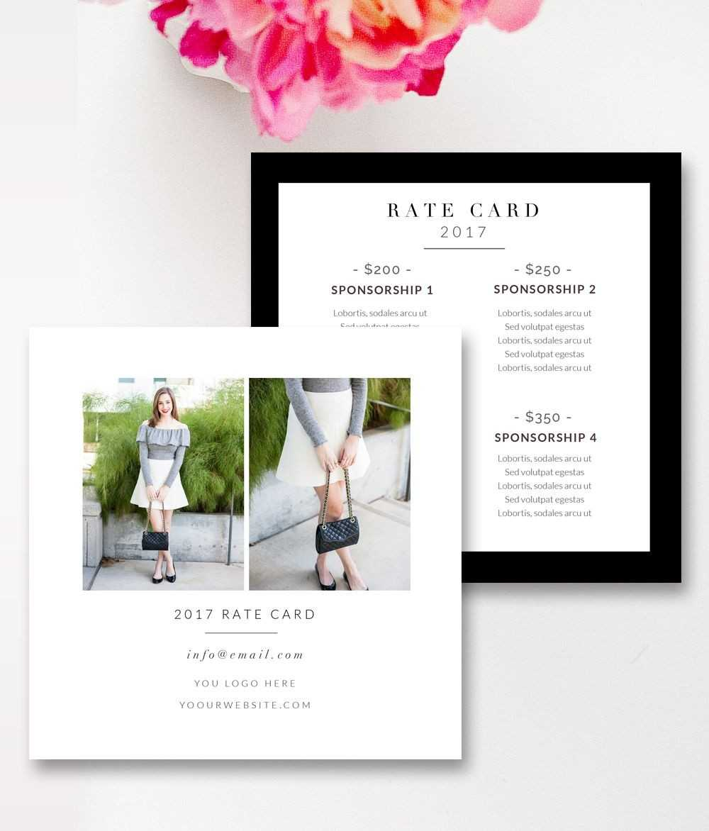 Fashion & Beauty Blogger Rate Card Template |Stephanie With Regard To Rate Card Template Word