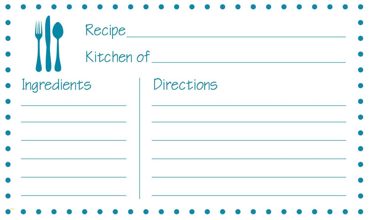 Fillable Recipe Card Template - Atlantaauctionco Within Fillable Recipe Card Template