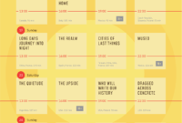 Film Festival Day Schedule Template / #event #poster in Film Festival Brochure Template