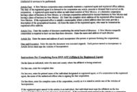 Form Articles Of Ncorporation Llinois Secretary State with regard to Corporate Secretary Certificate Template
