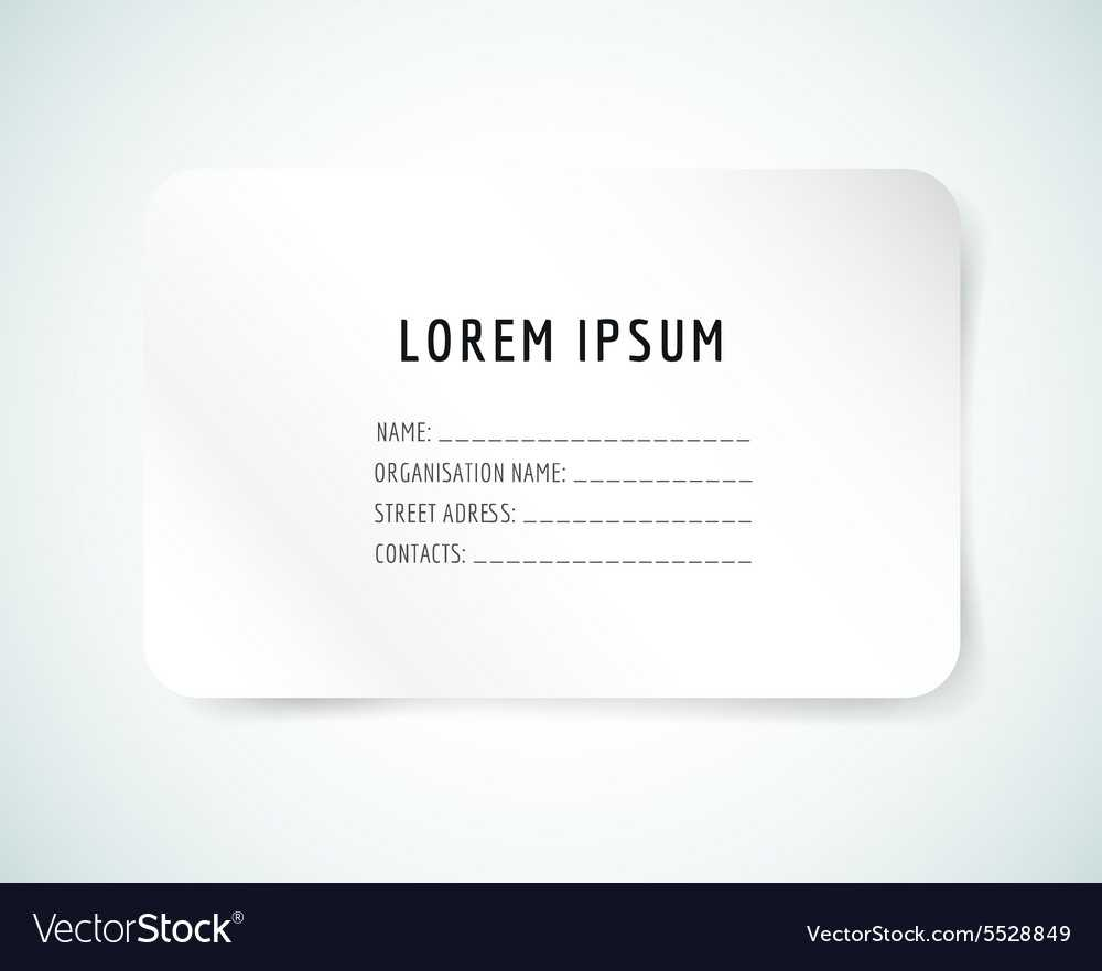 Form Blank Template Business Card Paper And With Blank Business Card Template Download