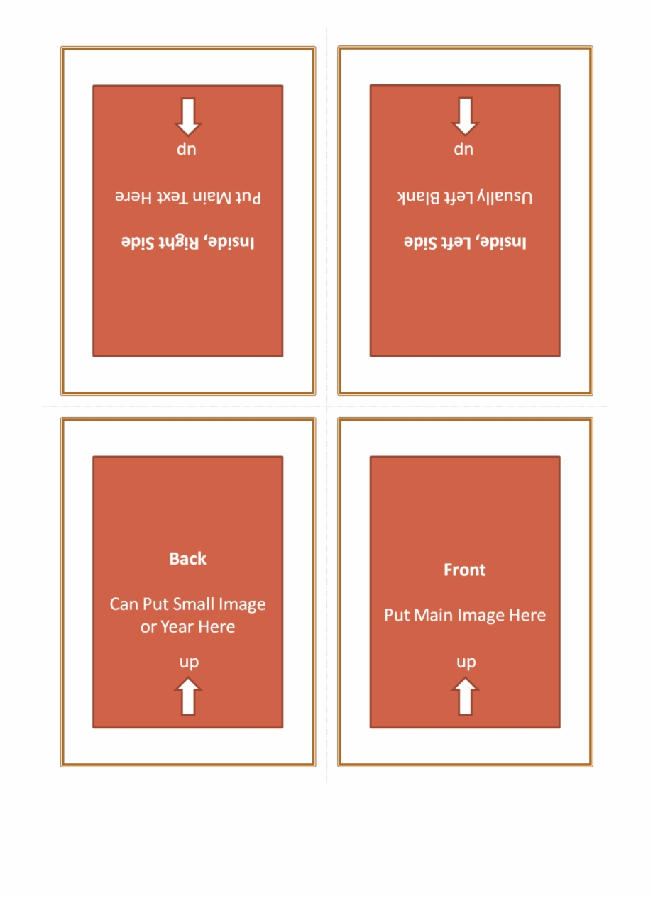 Four Fold Greeting Card Template 127614 - Quarter Fold For Quarter Fold Birthday Card Template