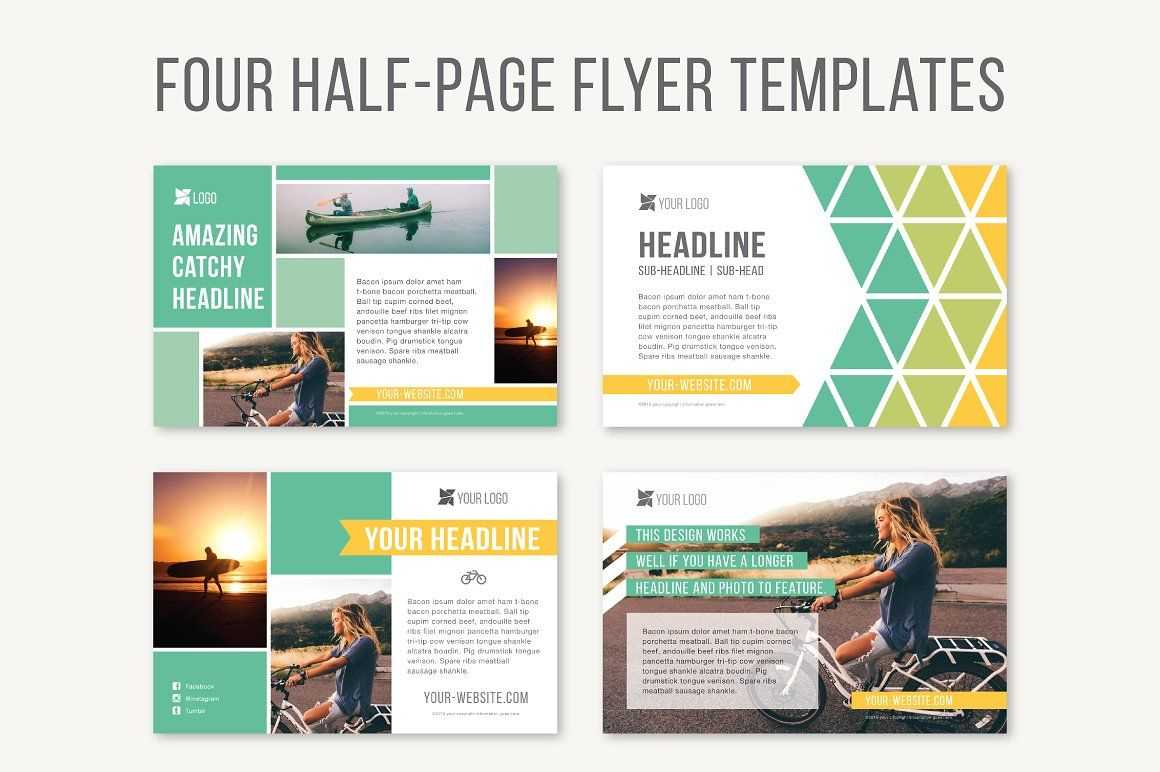 Four Half Page Flyer Templatesjoanna Haecker On For Half Page Brochure Template