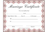 Free Blank Marriage Certificates | Printable Marriage within Blank Marriage Certificate Template