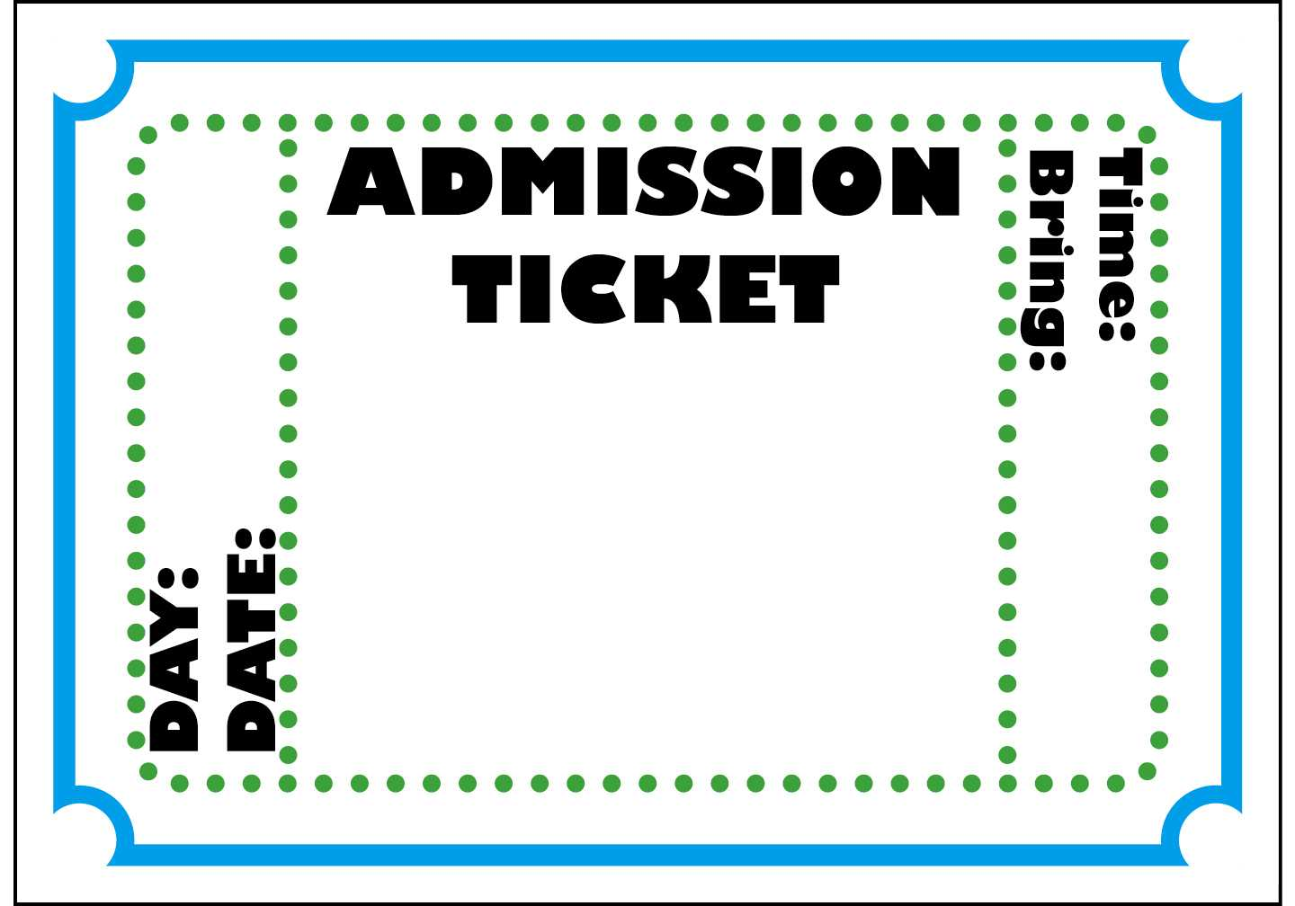 Free Blank Ticket Cliparts, Download Free Clip Art, Free Inside Blank Admission Ticket Template