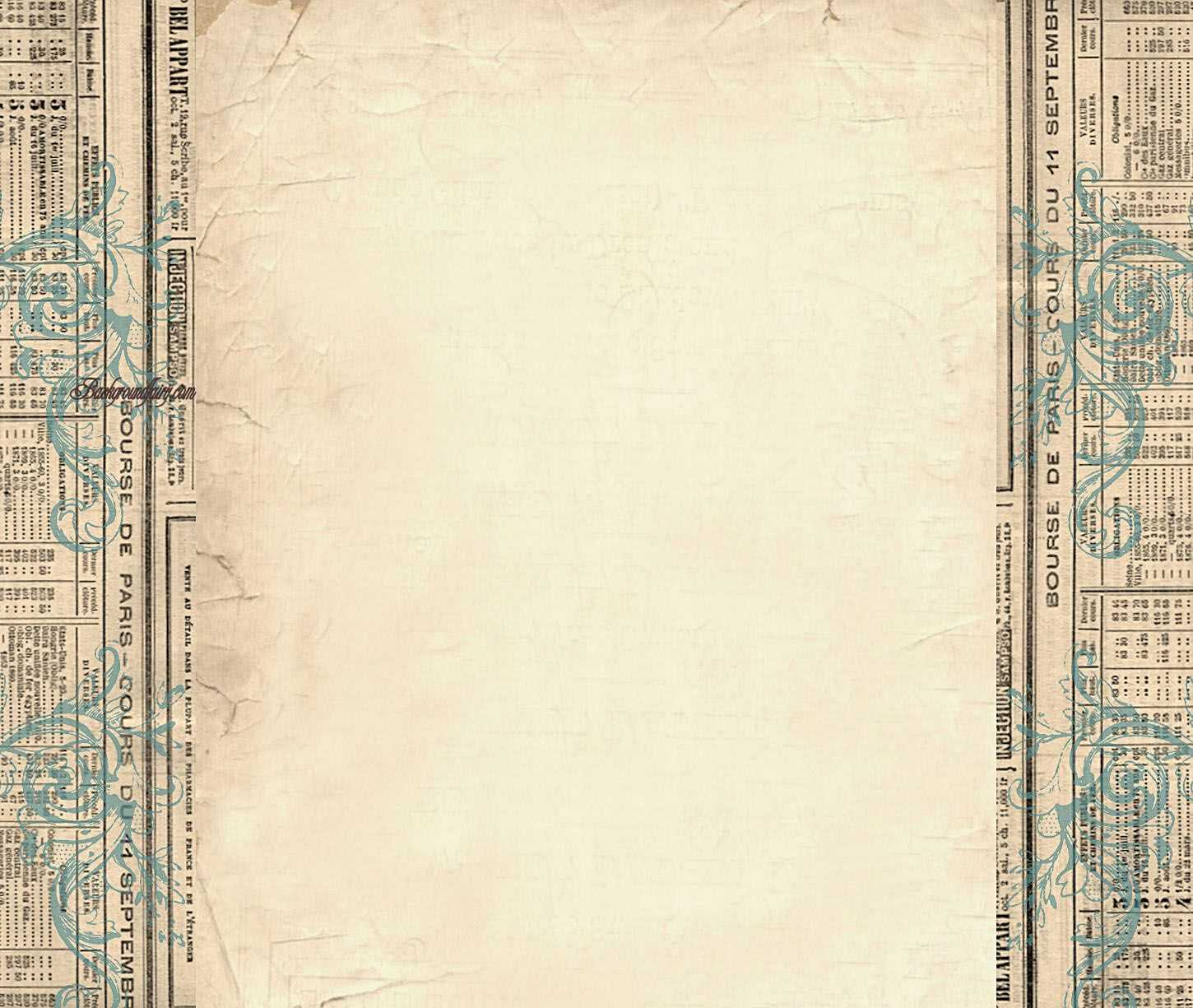 Free Border Templates |  Column Blog Background – Vintage Within Old Blank Newspaper Template