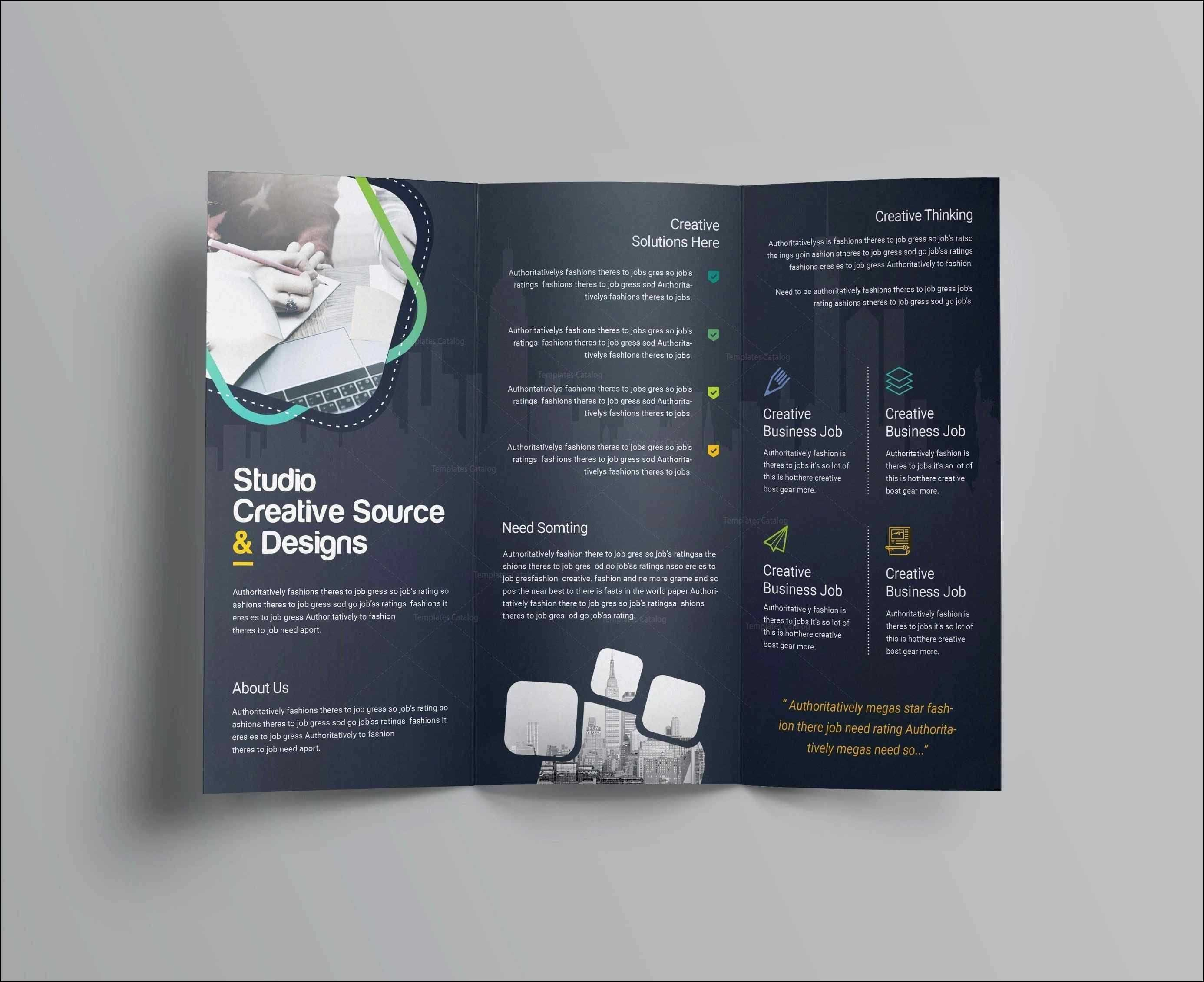 Free Brochure Templates For Word Letter Sample Blank Tri In Free Church Brochure Templates For Microsoft Word