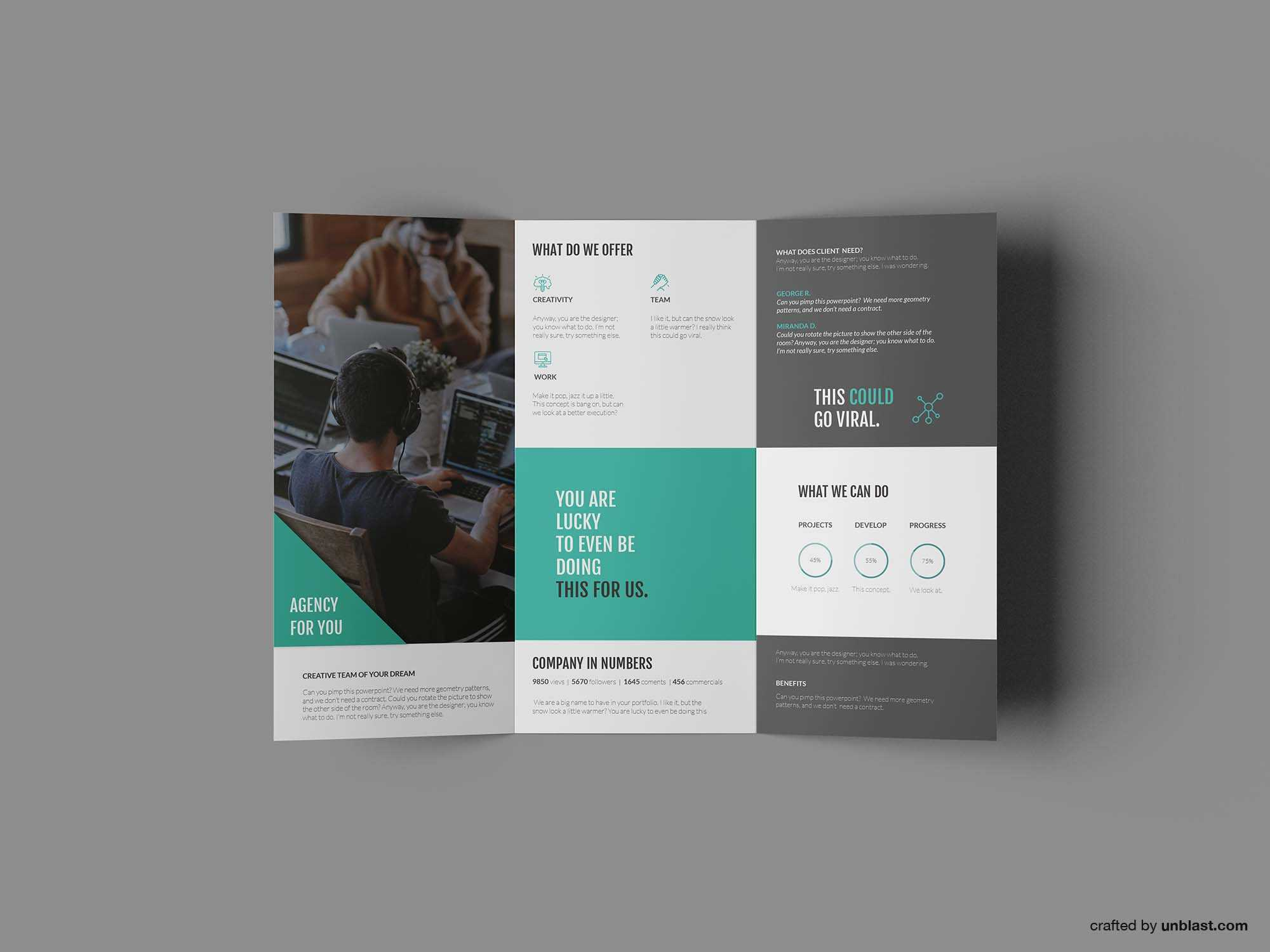 Free Business Trifold Brochure Template (Ai) With Regard To Ai Brochure Templates Free Download