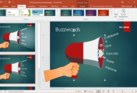 Free Buzzword Powerpoint Template for How To Change Powerpoint Template
