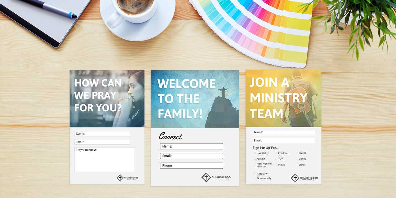 Free Church Connection Cards - Beautiful Psd Templates Inside Church Invite Cards Template