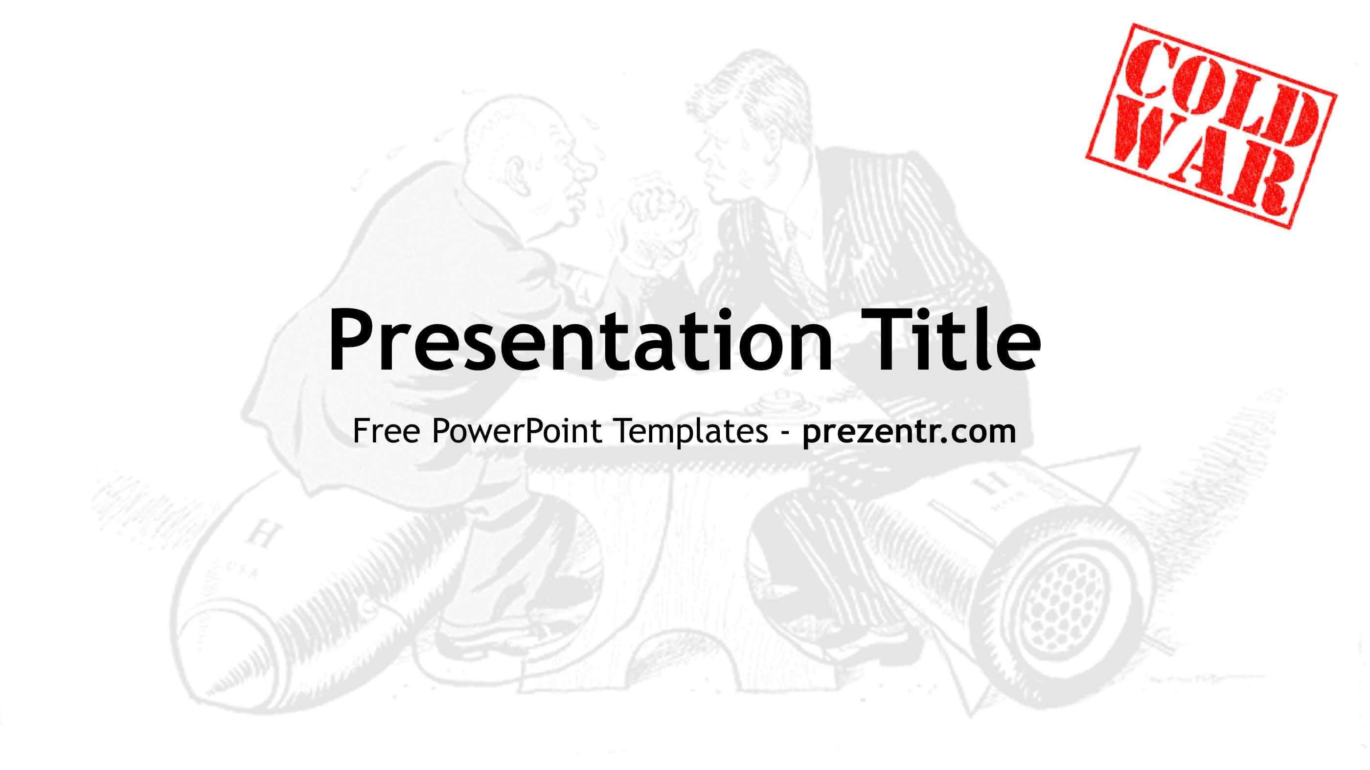 Free Cold War Powerpoint Template – Prezentr Ppt Templates Pertaining To World War 2 Powerpoint Template