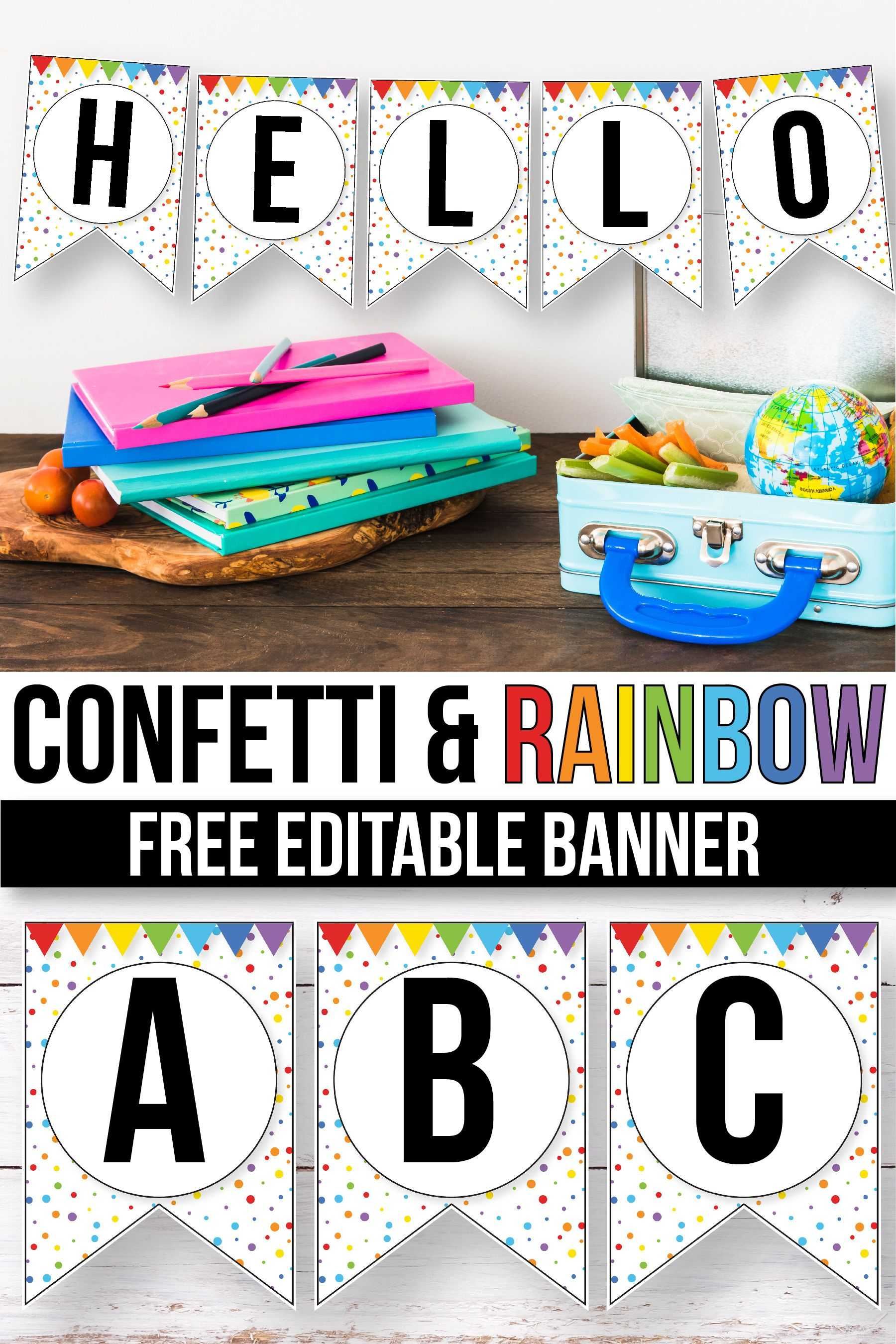 Free Confetti Banner For The Classroom - Confetti Classroom Throughout Classroom Banner Template