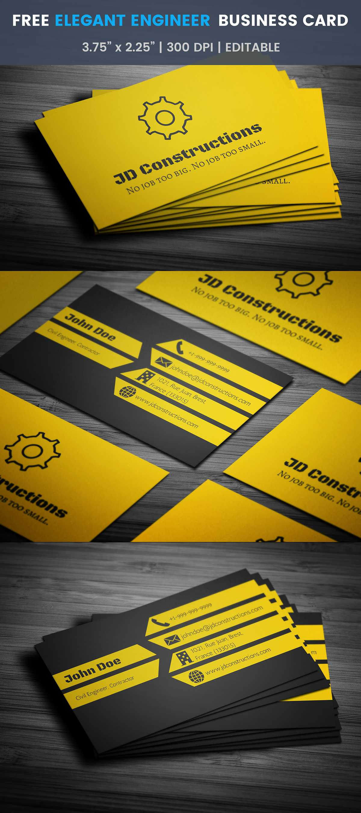 Free Construction Business Card Template On Student Show Pertaining To Construction Business Card Templates Download Free